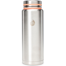 MIZU V12 Drikkeflaske with V-Lid 1200ml, stainless with black